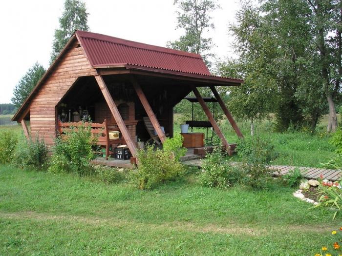 Дача летняя кухня своими руками