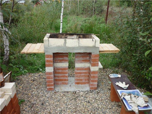 как построить мангал на даче фото