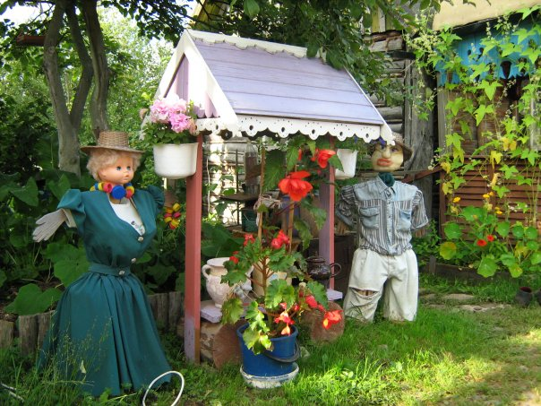 Поделки на даче и саду своими руками
